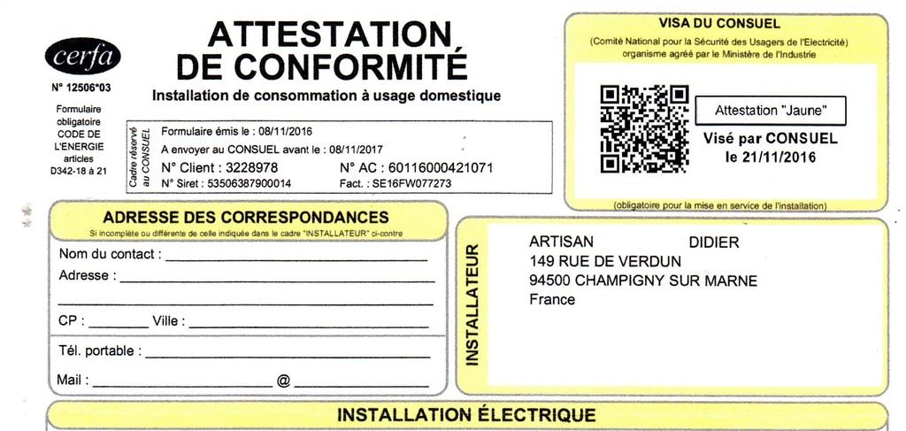 Conformit electrique consuel mise en conformit lectriques - Mise en norme electrique ...